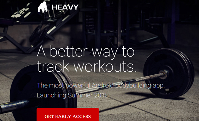 heavy app android landing page
