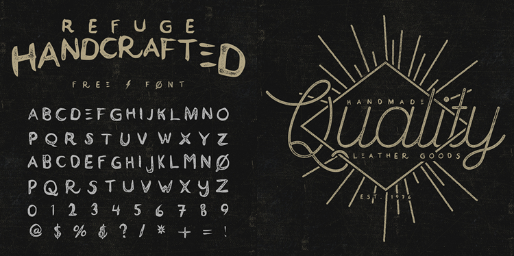 Refuge Handcrafted Typeface