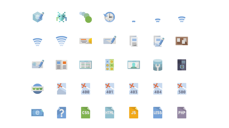 Flat Web Design Icons