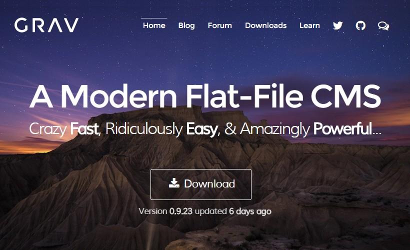 Grav: A Modern Flat-File CMS