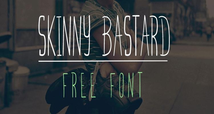 Skinny Bastard Uppercase Handwritten Font