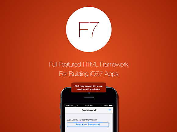 Framework7 – HTML framework for iOS7 apps