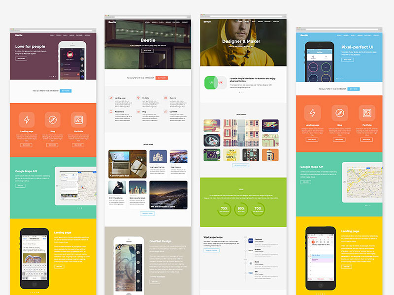 Beetle – HTML5 template for designes