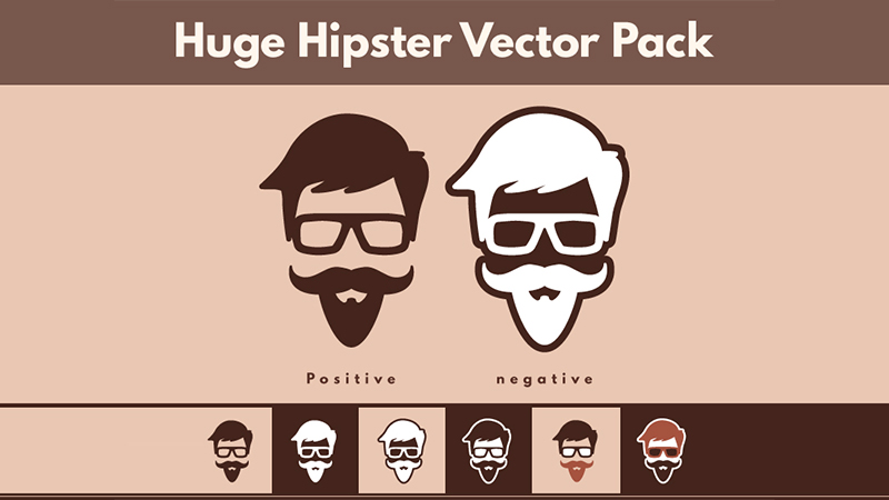 Huge Pack of 100 Hipster Vectors
