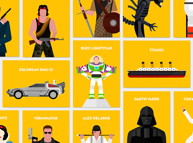 Iconic movie characters – PSD