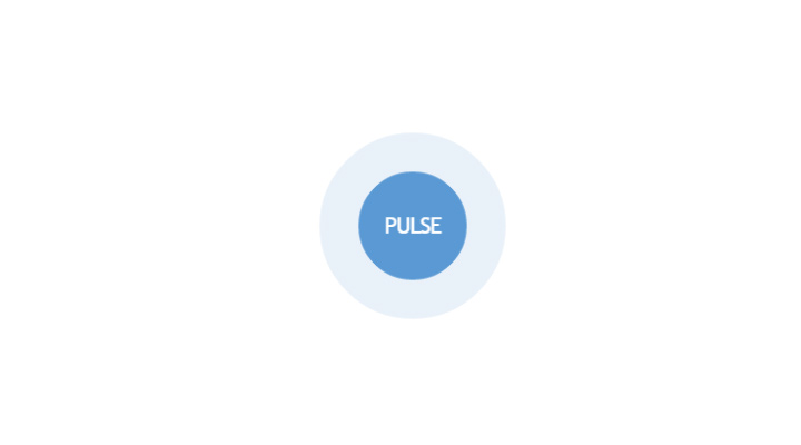 blue pusing button animation css3