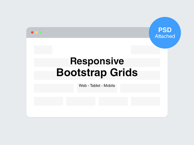 Responsive Bootstrap grids – PSD