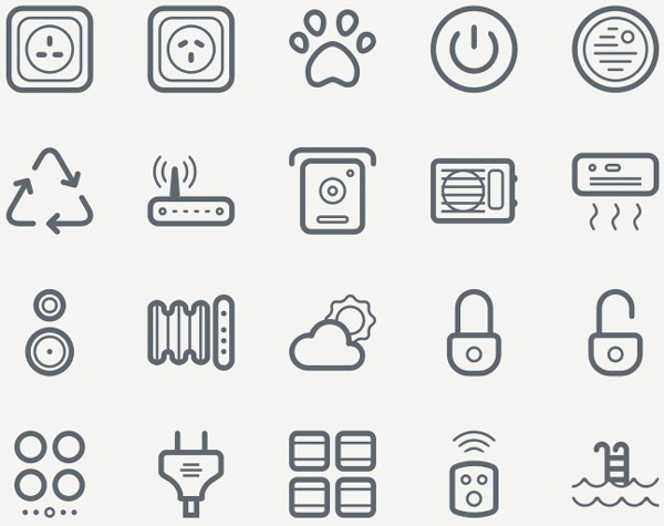 1.Smart House Icon Set