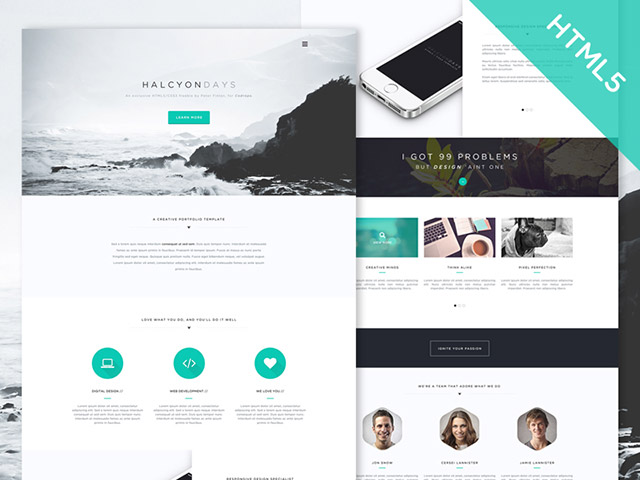 Halcyon days – Free HTML5 website template