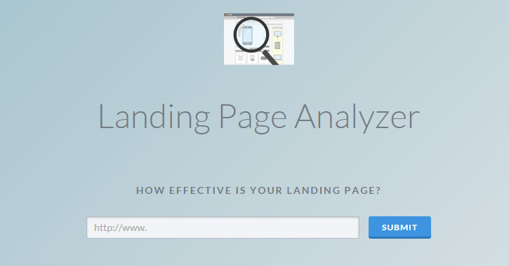 landing page analyzer webapp website