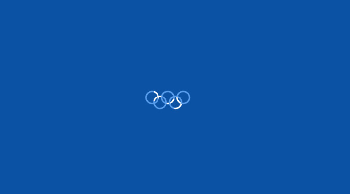 css3 olympic rings loader animation