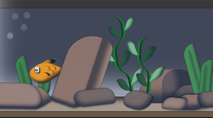 fish tank animation css3 open source
