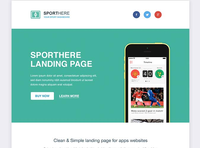 SportHere Template