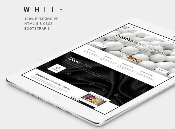 WHITE One-Page HTML Theme