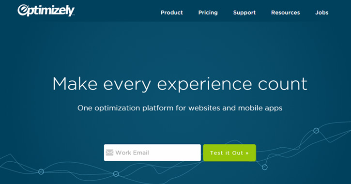 optimizely homepage ab testing