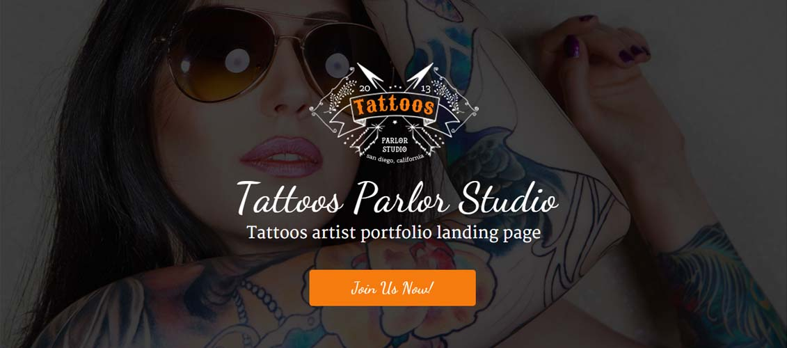Tattoo Shop - Unbounce Responsive Landing Page