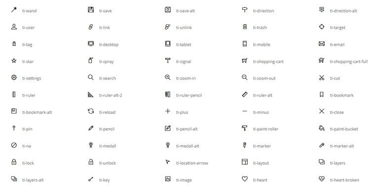 Themify Icons 320+ icons SVG Webfont formats free