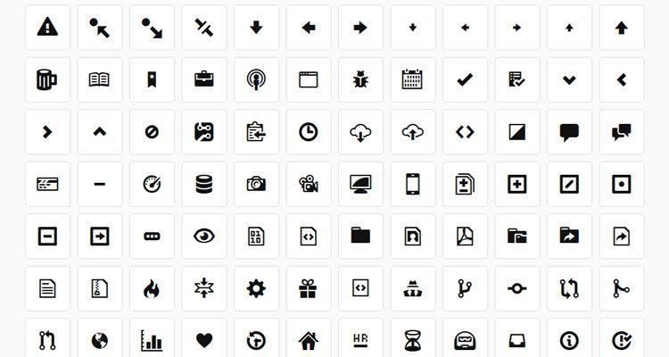 GitHub's Octicons 178 icons Webfont freebie