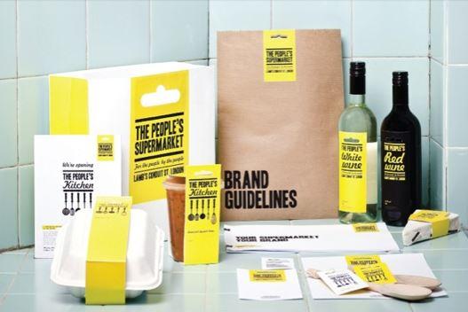 The People's Supermarket branding