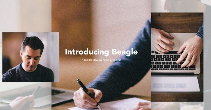beagle landing page design