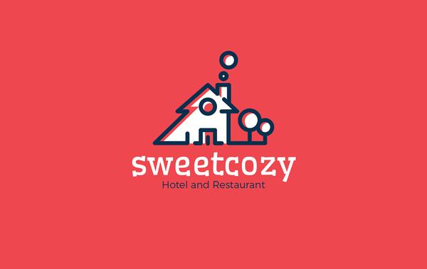 Sweetcozy Hotel & Restaurant Logoby HevnGrafix Design
