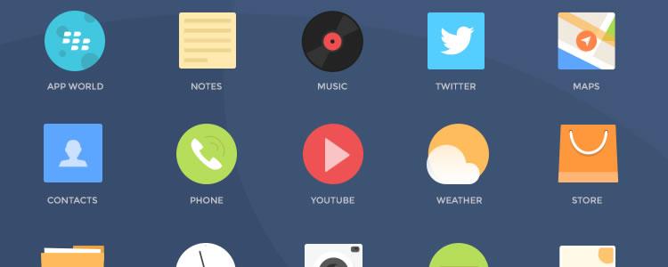 Blackberry Icons