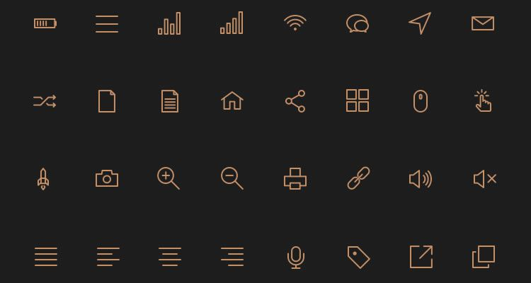 Stroke Icons 80 icons PSD AI Webfont formats freebie