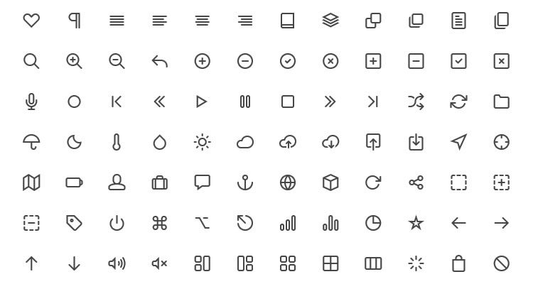 Feather Icon Set 130 icons PSD CSH SVG Webfont formats free