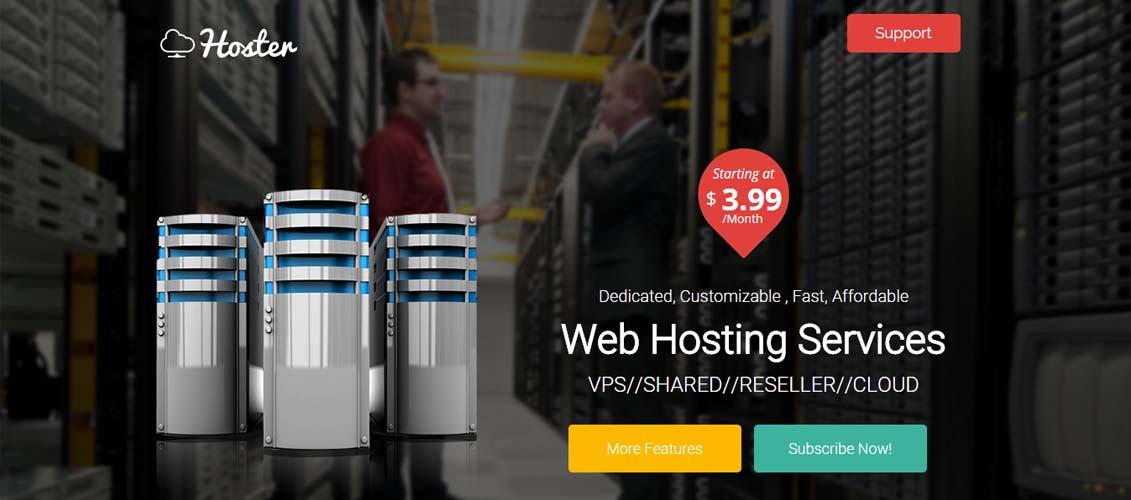 Hoster - Hosting Services Landing Page