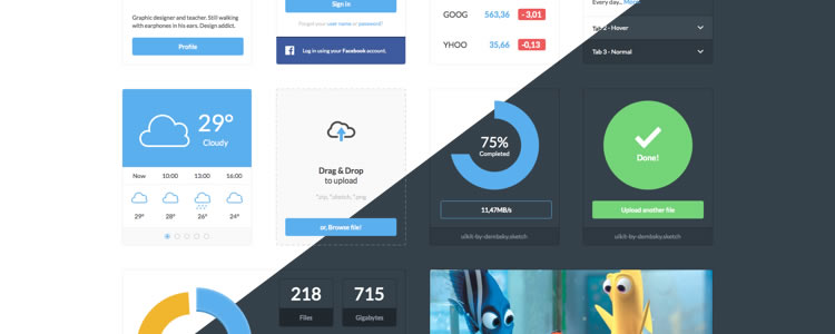 Dark and Light Ui Kit by Mateusz Dembek