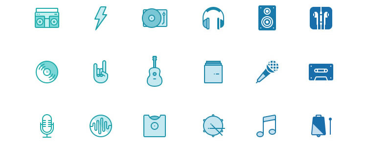 Musicons icons psd
