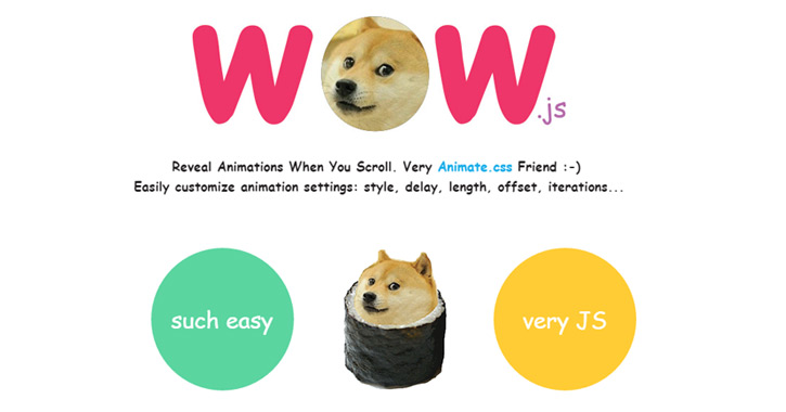 wowjs reveal information scroll