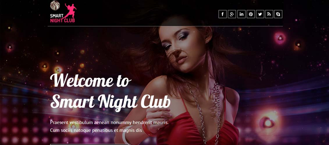 Nightclub - Unbounce Responsive Landing Page