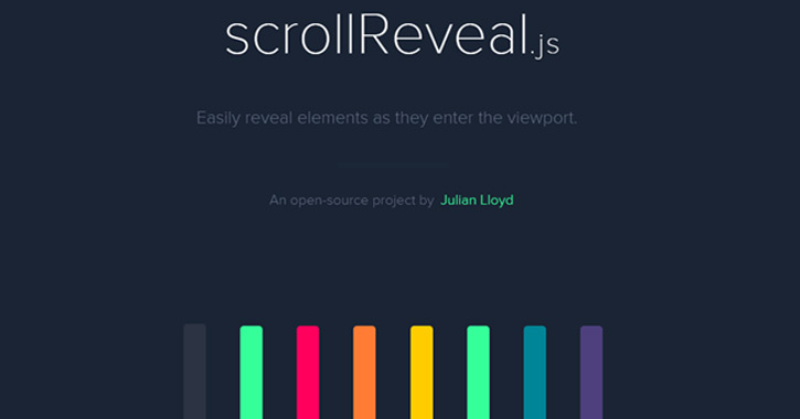 scrollreveal javascript js library