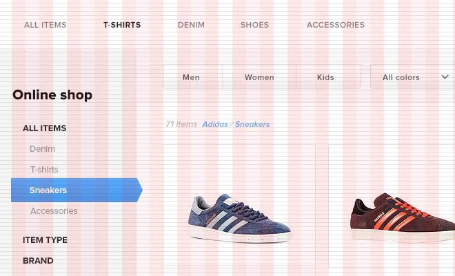 webshop grid baseline preview