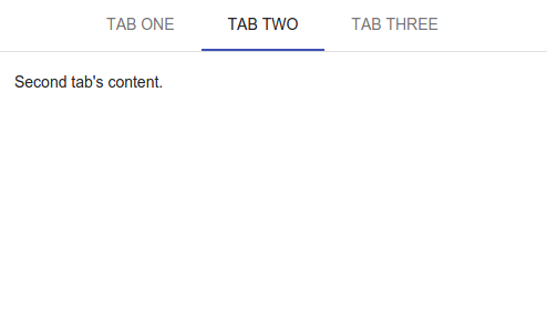 Tabs Example