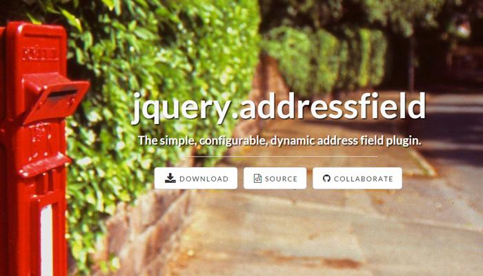 jquery address field