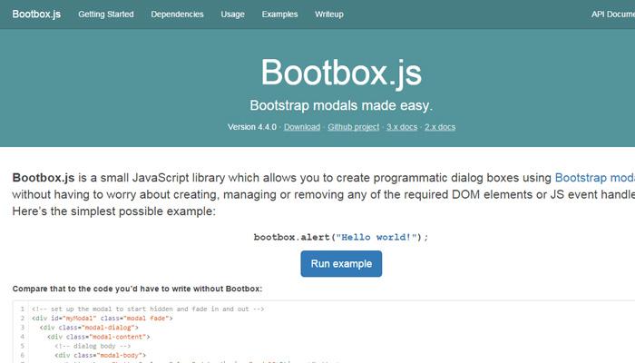 bootbox.js javascript open source