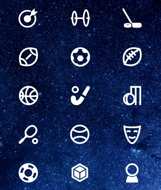 Sports and Art Icons PSD New Free Icons