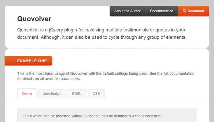 quovolver jquery plugin design