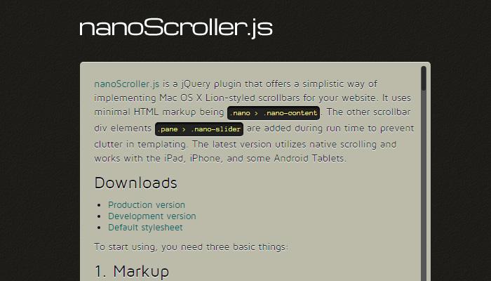 nano scroller scrollbar js