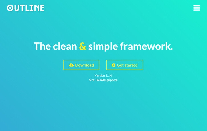Outline – The Clean Responsive CSS Framework