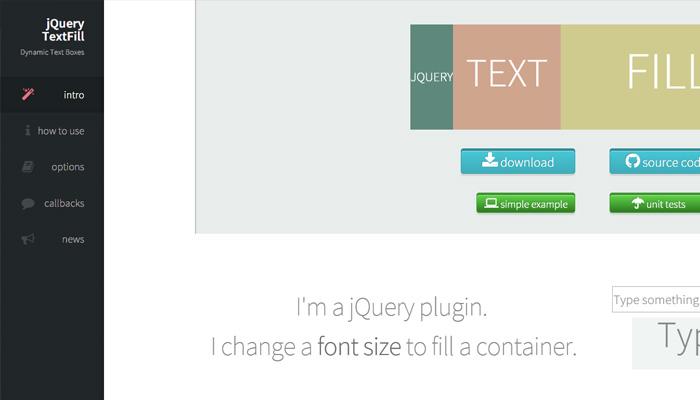 jquery textfill plugin