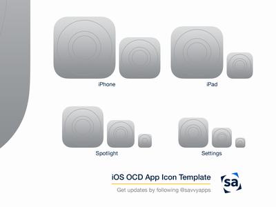 iOS 8 OCD App Icon Template PSD