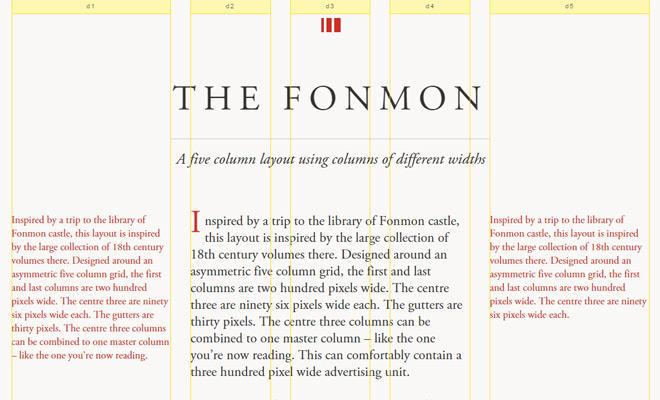 fonmon grid system asymmetrical design