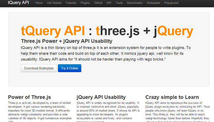 three js jquery combined library