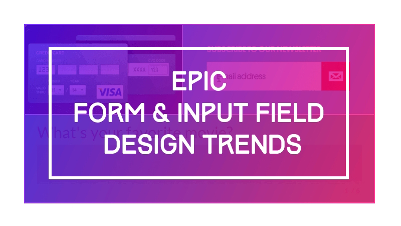 Creative Form & Input Field Design Examples
