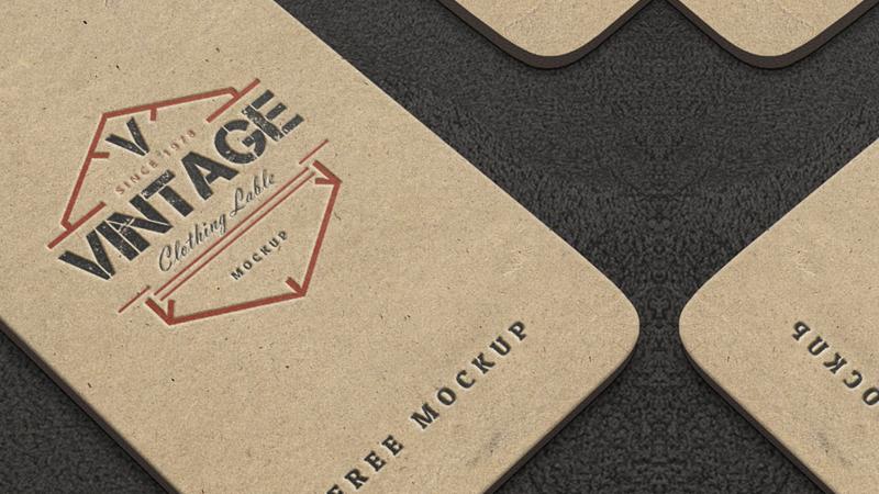 Vintage Label PSD Mockups
