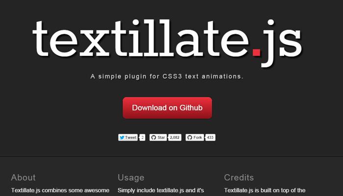 textillate js plugin