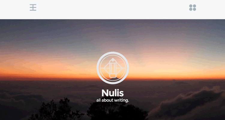 Nulis minimal single-column theme personal blogging